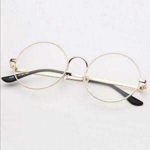 Round Gold tone glasses (no script)